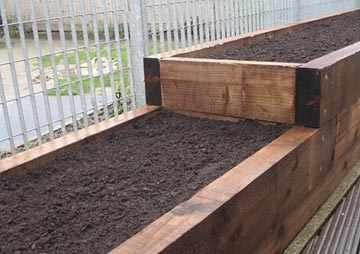 If Youu0027re Thinking About Raised Beds/vegetable Patches, New Railway  Sleepers Are A Cost Effective Alternative To Building Stone Walls.