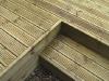Pine decking steps
