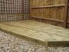 Pine corner decking
