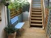 Small garden pine decking