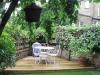 Corner pine decking
