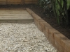 Pine decking and sleeper edging