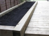 Sleeper edged raised bed
